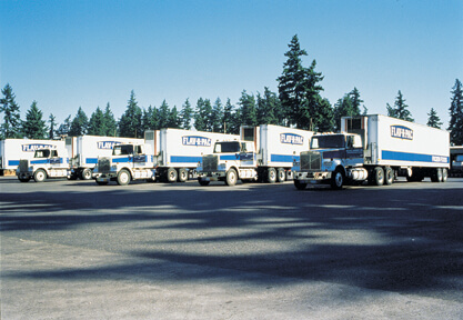NORPAC fleet of trucks getting the finished product to market