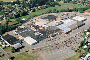 Aerial view of the Stayton Plant and Corporate Offices